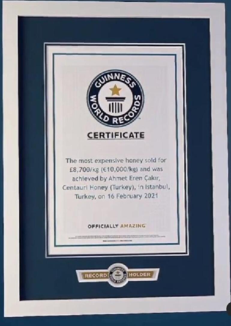 Mağaradan toplanan bal Guinness Rekorlar Kitabına girdi